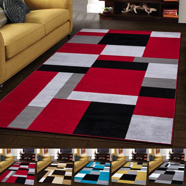 Modern Brown Burgundy 2x8 Area Rug Geometric Carpet Actual 1 9 X 6 9 Runner For Sale Ebay
