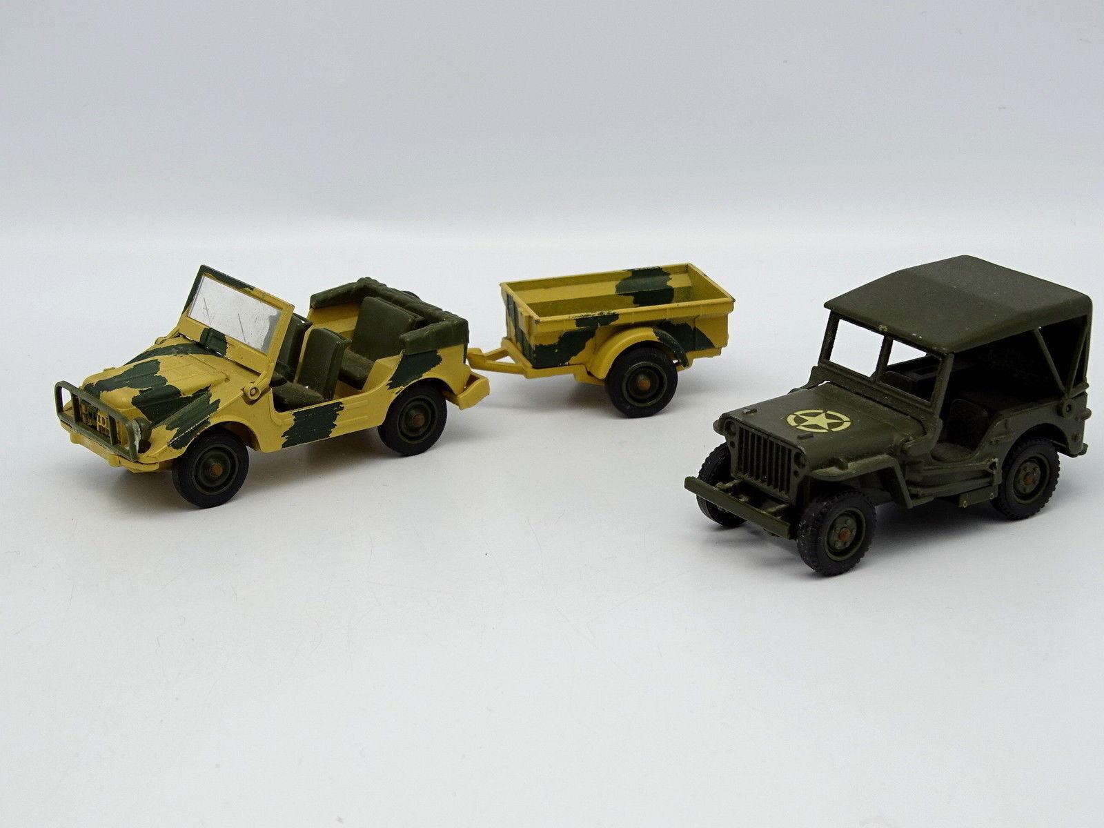 Solido Militär Armee Sb 1 43 - 2er Satz Jeep Willys + Auto Verbindung