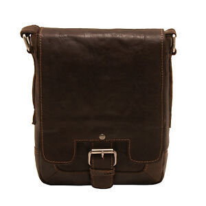 foncᄄᆭ sac AshwoodPetit Kingston en crumble Messenger marron de cuir voyage WY9EebDHI2