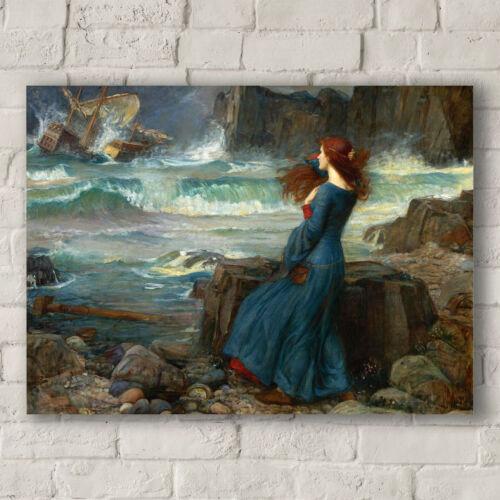 The Tempest Canvas Art Print John William Waterhouse Miranda