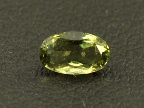 0.15cts oval 5x3mm moldavite faceted cutted gem BRUS401
