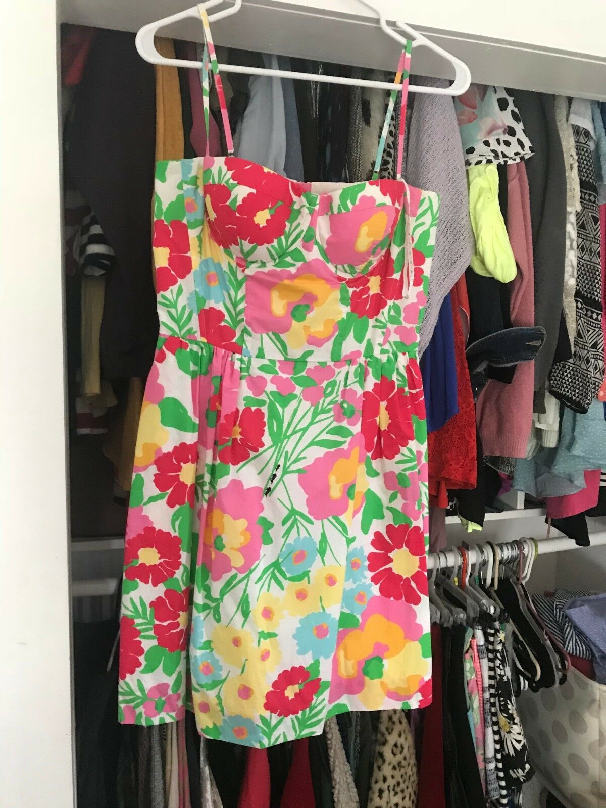 Lilly Pulitzer Size 6 Floral Strapless Fit n Flare Dress