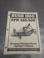 Bush Hog Efm 480 600 Finishing Mower Operators Manual 50024642
