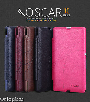 For Sony Xperia Z KLD Oscar II Card Slot PU Leather Flip Case Cover L36h C6603