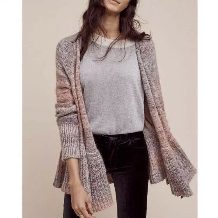 Antropologie Knitted & Knotted Cardigan Cody Peplum Size S NWOT