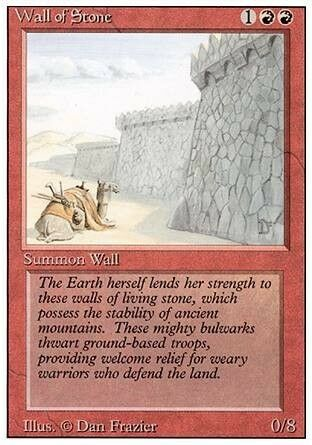Revised *0//8* MTG 4x WALL OF STONE