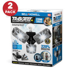 Bell + Howell Tri Burst Multi Directional LED Light w 3 Adjustable Heads 2-pack
