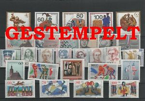 Allemagne-Berlin-Vintage-Yearset-1989-Timbres-Used-Complet-Plus-Sh-Boutique