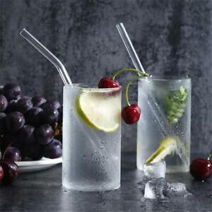 Reusable-Glass-Straw-Wedding-Birthday-Party-Drink-Straws-w-Cleaning-Brush-Box