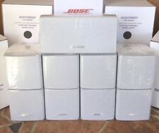5 Bose Acoustimass Lifestyle Double Cube Speakers {1 Center Channel+4 Surround}