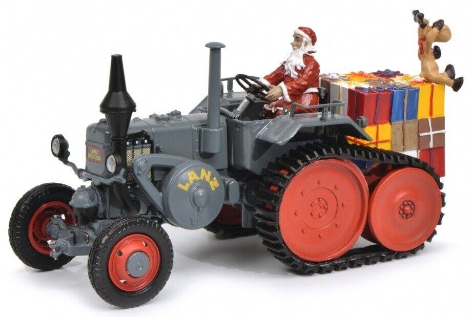 hasta un 65% de descuento SCH7703 - Tracteur sur chenilles LANZ BULLDOG avec le Père Père Père Noël et des cadeaux -
