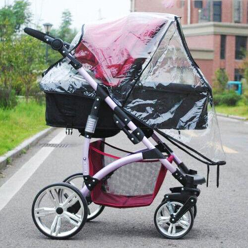 Universal Buggy Rain Cover Baby Pushchair Stroller Pram Buggy Raincover Zipper
