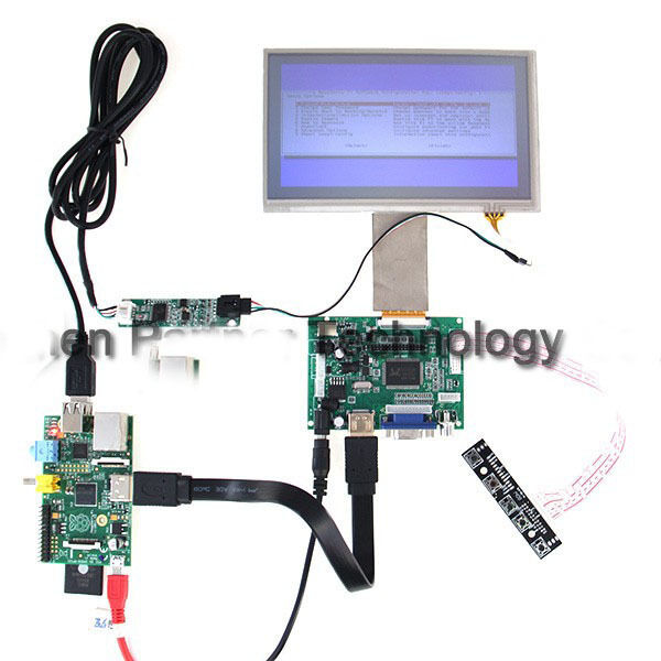 9 Inch TFT LCD Monitor Touch Screen + Driver Board HDMI VGA For Raspberry Pi B+