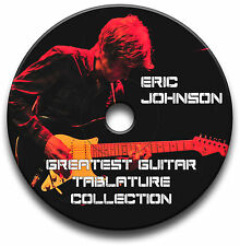 ERIC JOHNSON BLUES ROCK GUITAR TABS TABLATURE SONG BOOK ANTHOLOGY SOFTWARE CD