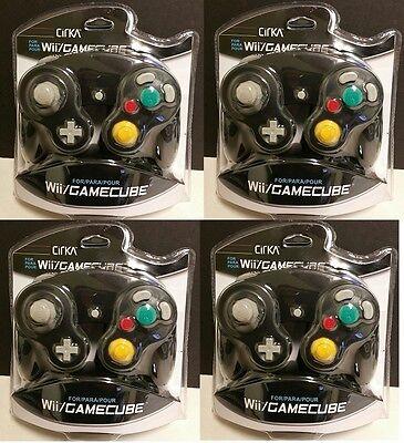 4 LOT NEW BLACK CIRKA Controller Control Pad for Nintendo Gamecube & Wii