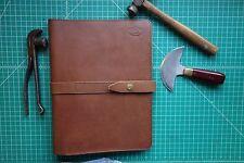 Leather Portfolio (Walnut)handmade i iPad case,Fits in Orvis overnight bag