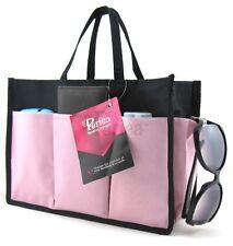Periea Handbag Organiser, tidy, organizer, purse insert pink and black-Kristine