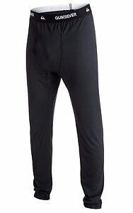 2019-NWT-MENS-QUIKSILVER-TERRITORY-POLARTEC-BASE-LAYER-BOTTOM-XL-Black-pants