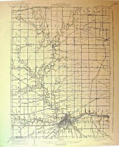 Details about USGS 15' Topographic Map Defiance, OH 1909 edition on defiance missouri, mount gilead map, jonesville virginia map, defiance michigan map, defiance online map, defiance county map, fort defiance arizona map, defiance san francisco map, defiance indiana map, defiance oh,