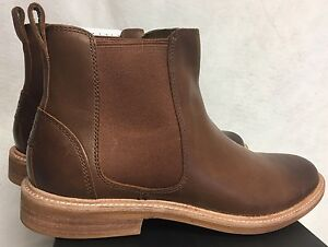 15b6ee34bf5 Details about UGG LEIF 1013135 British Tan Leather Winter Boots Shoes Men's  Chelsea Style