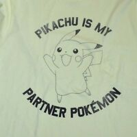 Pikachu Is My Partner Pokemon T-shirt Officially Licensed Nintendo Adult Tee