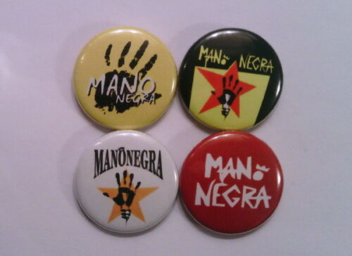 "4 x Mano Negra 1/"" Pin Button Badges manu chao france music"