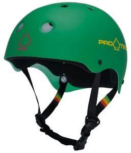Protec Classic Skate Helmet Rasta Green  Size Large Skate Scooter Pro-Tec