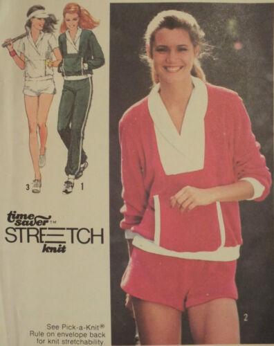 VTG 70s SIMPLICITY Misses Knit Tops~Pants//Shorts~Workout Wear PATTERNS 6-8-10 UC