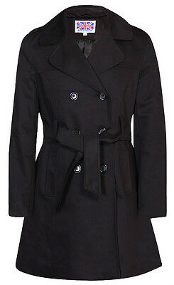 Vicky Smith Double Breasted Womens Trench Mac Coat Ladies Belted Fashion Jacket