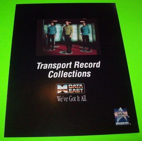 Data East Star Trek 25th Anniversary Pinball FLYER Original NOS 1991 Space Age