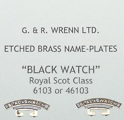 WRENN Brass model railway LAMPORT /& HOLT plates /&crests