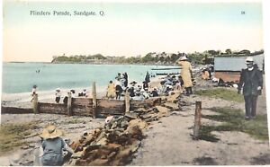 EARLY-1900s-SANDGATE-BRIGHTON-QLD-FLINDERS-PARADE-RETRAC-SERIES-POSTCARD