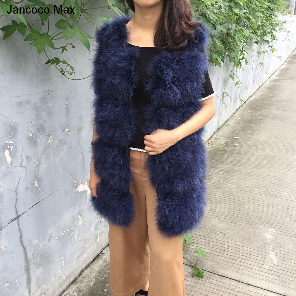 New Gilet Genuine Ostrich Feather Vests Winter Turkey Fur Vest Fashion Coat71901
