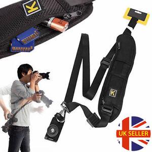 Quick-Sling-Camera-Single-Shoulder-Belt-Strap-SLR-DSLR-Cameras-Canon-Sony-Nikon