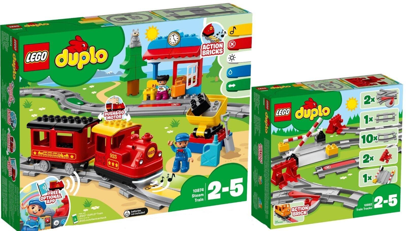 LEGO 10874 DUPLO 10882 treni a vapore Ferrovia  e rossoaie Set n9 18  liquidazione fino al 70%