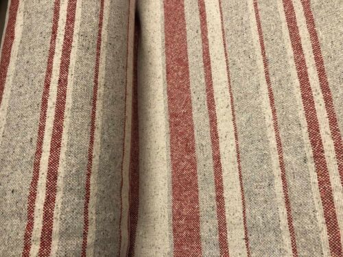 St Anton Strawberry Stripe Fabric100/% Recycled Wool Upholstery Red Cloth
