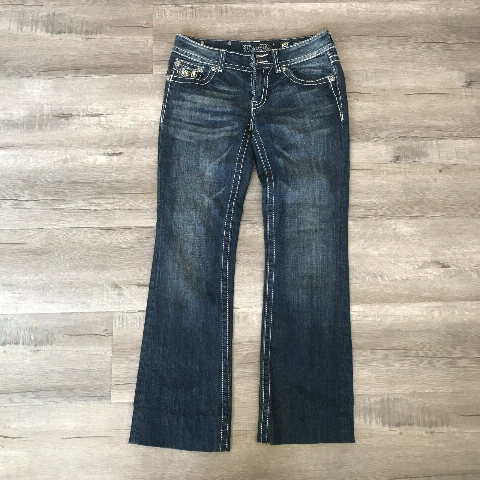 """Miss Me Embellished Boot Cut Jeans Size 29 Inseam 30"""""""