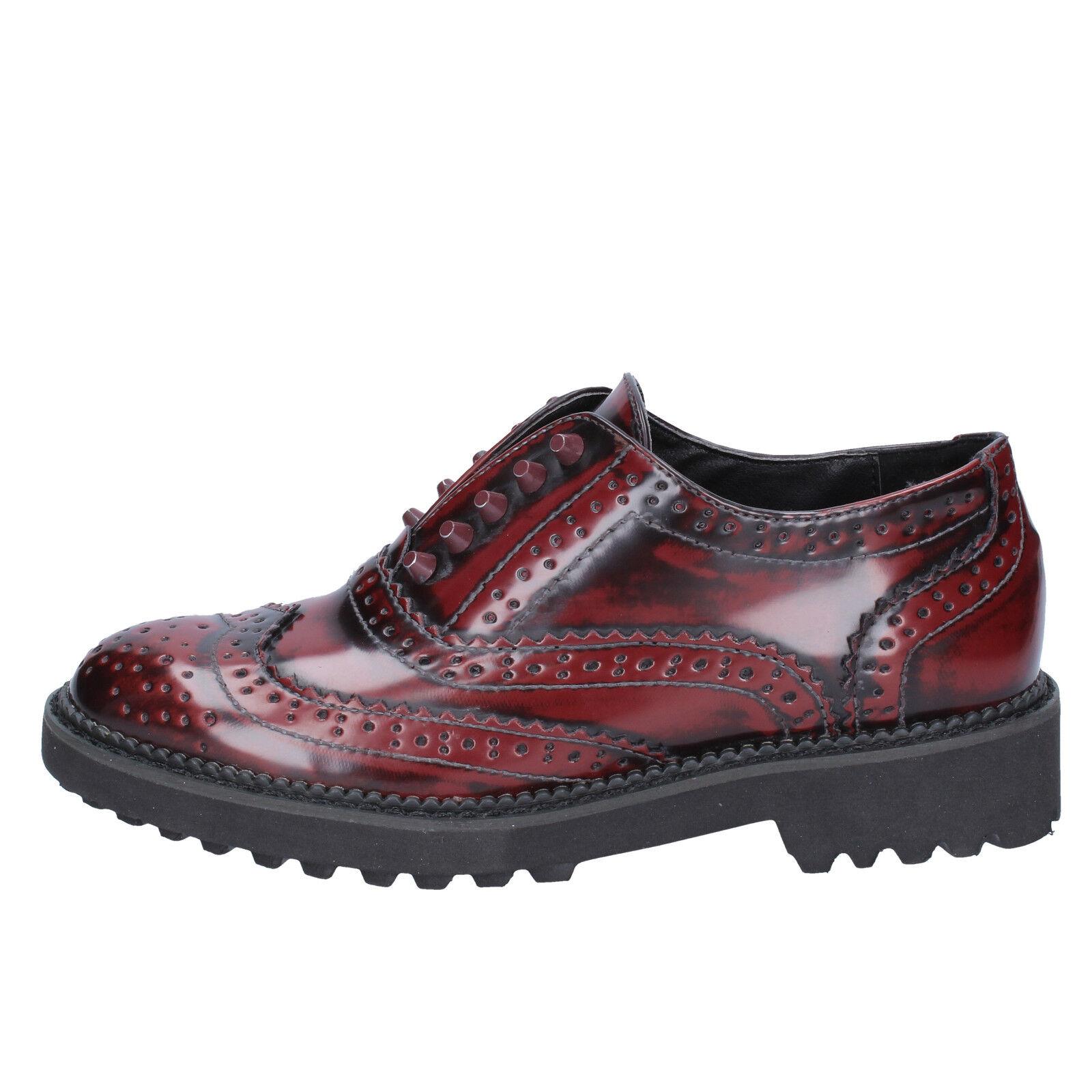 Femme chaussures Francesco Milano 3 (UE 36) élégante bordeaux cuir BX331-36