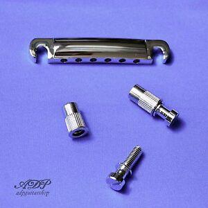 Importé De L'éTranger Cordier Stop Tailpiece Style Gibson Large Studs 6,4mm8m Chrome Economy Bg34c-rp Une Performance SupéRieure