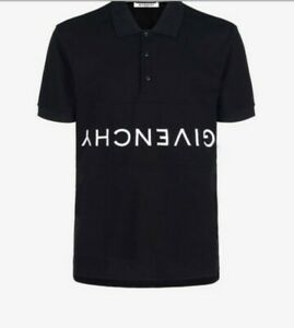 f2b670ca Givenchy Reverse Logo Polo Shirt T-Shirt Black Embroidered AUTHENTIC ...