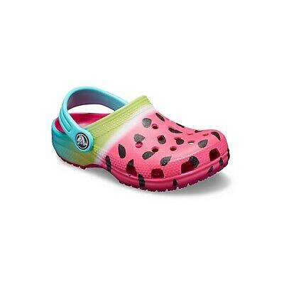 b8f68859caa527 Crocs 205653 CLASSIC OMBRE GRAPHIC CLOG Girls Slip On Casual Clogs Candy  Pink