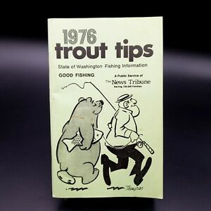 Details about Vintage Trout Fishing Tips ~ 1976 State of Washington  Informative Publication