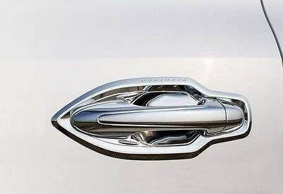 NEW CHROME 4DR DOOR HANDLE BOWL INSERTS FOR TOYOTA FORTUNER