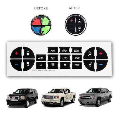 2007-2013 Chevrolet Suburban AC Climate Control Dash Buttons Repair Decal Set