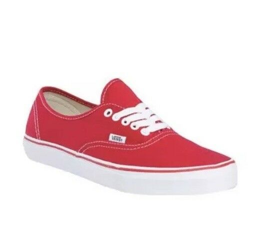 9bca0ad1ef VANS Authentic Lite Mens 3.5 Womens 5 Canvas Red Athletic SNEAKERS Shoes  for sale online