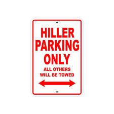 Hiller Parking Only Wall Art Decor Novelty Notice Aluminum Metal Sign