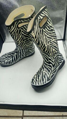 Bogs Zebra Women Rainboots 9