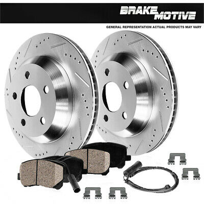 For BMW 550i 750i 760Li Alpina B6 B7 Rear Drilled Slotted Brake Rotors