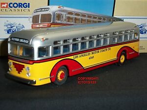 Corgi 97635 Gm4502 Los Angeles Motor Coach Hollywood