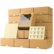 20 Pack 6x6x3 Bakery Boxes With Window Extra Thick Cookie Boxes For Gift Gi